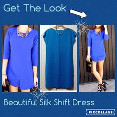 ✨Lauren Silk Dress✨ Beautiful NWT Blue Silk Dress, great by it self or a belt. (Necklaces not included) ✨Please lmk if you have any questions, to make sure we have a pleasant transaction✨ Thanks! ☺️ Ralph Lauren Dresses Midi