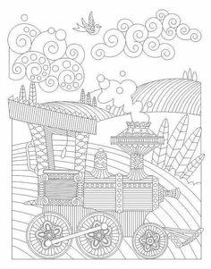 Advanced Coloring Train Page