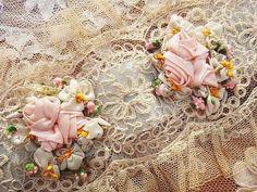 Antique and angel rose | | - Rococo ribbon Katyusha antique British and French Eglantyne (Egurantinu)