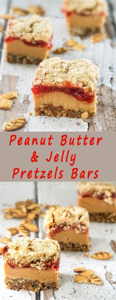 Delicious and easy-to-make bars, with a wonderful combination of sweet and salty. Peanut Butter & Jelly Pretzels Bars