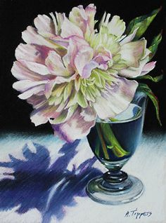 """Peony by Marie Tippets Pastel ~ 6"""" x 8"""""""
