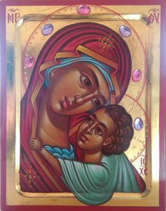 Mother of God,Virgin and child,Orthodox icon,hand gold Unique Birthday Gifts, Orthodox Icons, Handmade Items, Handmade Gifts, Byzantine, Special Gifts, Wedding Gifts, Hand Painted, Grid