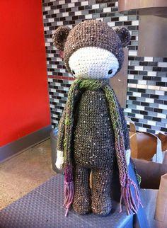 BINA the bear made by Jasmnflwrs / crochet pattern by lalylala