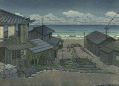 Kawase Hasui: Cloudy Day in Mito: Small Version Print, Shôwa period, dated 1951 - Harvard Art Museum