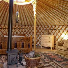 Yurt : 'Cloud House' Traditional Mongolian Ger, Off Grid Home, Movement Studio, Guest House Wood Stove Chimney, Kite Hill, Glamping Wales, Yurt Living, Outdoor Movie Nights, Luxury Glamping, Hardwood, Clouds, Houses