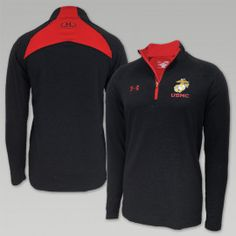 MARINES UNDER ARMOUR CHARGED COTTON LEGACY 1/4 ZIP