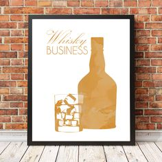 A personal favourite from my Etsy shop https://www.etsy.com/au/listing/259394195/alcohol-idioms-sayings-whisky-business