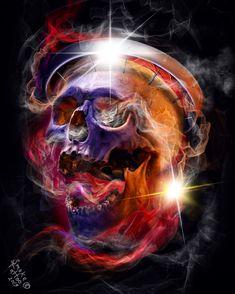 Skull Tattoos, Body Art Tattoos, Tattoo Studio, Evolution Tattoo, Skull Reference, Wall Art Wallpaper, Dark Art Drawings, Knight Art, Celtic Dragon