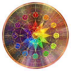 Rainbow Zodiac Mandala