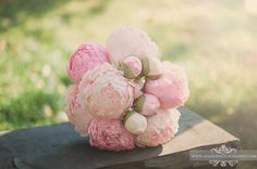 Pink peony bouquet! Can you believe this isn't real flower?