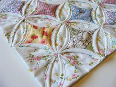 Cathedral Window Tutorial. I want to make SOMETHING with this quilt block.