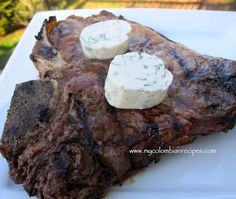 Grilled Steak with Cilantro, Scallion and Cumin Butter