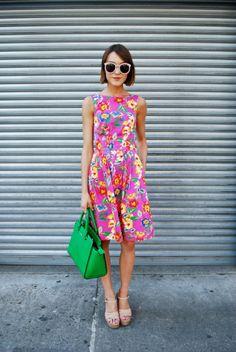 Bright Flower Dress #SS14