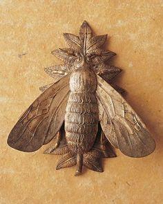 Bee on leaf brooch