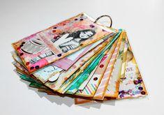 Mini álbum scrapbook para fotos, explicado paso a paso. Tutorial scrapbook aprovechar retales de papeles y restos de material