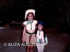 Vintage // Color Photo // Two Girls In Costume// Cowgirl // Sequins by foundphotogallery on Etsy