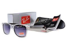 New 2014 Ray Ban Wayfarer Transparent Black Frame Sunglasses