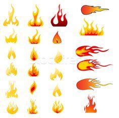 fiamme e fuoco stencil - Cerca con Google