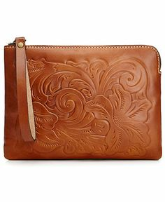 Patricia Nash Handbags, Cassini Tooled Wristlet - Handbags & Accessories - Macy's