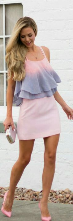 Pale Pink and Lavender / Fashion by Kier Couture