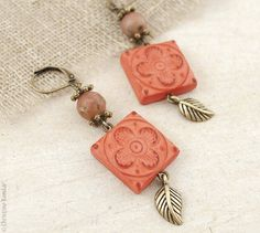 https://www.etsy.com/listing/94617647/vintage-rustic-earrings-coral-pink