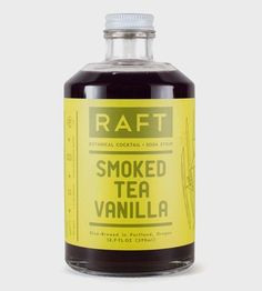 Smoked Tea Vanilla Cocktail Syrup by Raft