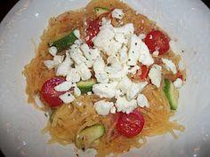 Spaghetti Squash with Tomatoes, Feta, and Basil