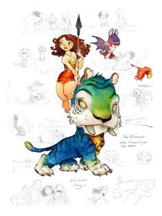 The Croods – Concept Art by Chris Sanders and Arthur Fong  http://www.cgramp.com/Inspiration/the-croods-concept-art-by-chris-sanders-and-arthur-fong/