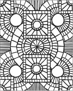 Mosaic Patterns Printable | Mosaic Patterns Coloring Pages