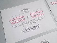 This invite uses varying sizes and styles of typography to keep all the elements in harmony.