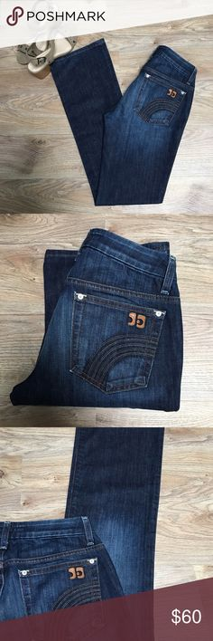 Joes Jeans Curvy Fit Bootcut, dark wash, 26x33 Super flattering and like new! Joes curvy fit bootcut honey style 😍 inseam 33 inches. Joe's Jeans Jeans Boot Cut