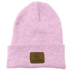 John Deere Pink Knit Beanie Hat w/ Leather Patch John Deere Store, John Deere Hats, Pink Beanies, Knit Beanie Hat, Caps Hats, Women's Hats, Mens Caps, Hats For Men, Cowboy Hats