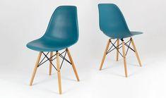 Lot Chaise Bleu Canard Style Eames