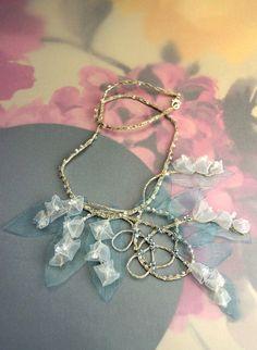 spring wedding fashion pale blue jewelry White Lily