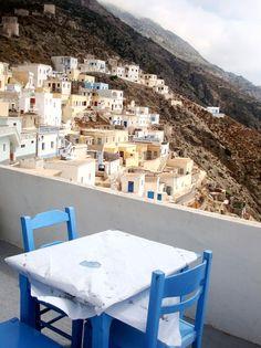 Table with view, Olympos village Just Like Heaven, Greek Islands, More Photos, Summer Time, Travel, Beautiful, Greek Isles, Greek, Viajes