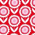 Sweetheart Collection Hello Sunshine Cotton Fabric from Michael Miller is available now at the Bead and Button Company. Red Fabric, Cotton Fabric, Bloom Blossom, Michael Miller Fabric, Retro Flowers, Hello Sunshine, Flower Prints, Custom Design, Contemporary