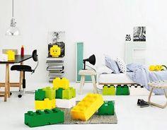 decorar con piezas de lego gigantes