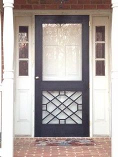 Legacy Chippendale Storm/Sceen Doors traditional screen doors, several styles beyond the Richmond door. Comes with screen and glass so you can switch between seasons Screen Door Projects, Front Door Colors, Entry Doors, Storm Door, Front Door With Screen, Screen Door, Doors, Exterior Doors, House Exterior