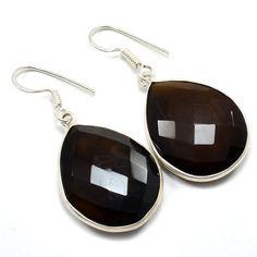 Silvesto India Smoky Quartz with Sterling Silver 925 Women's Earrings PG 1273   https://www.amazon.fr/dp/B01HI3E2AA