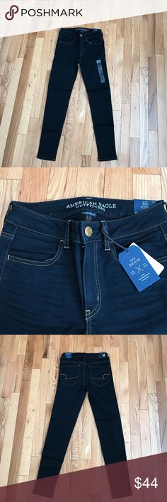 American Eagle Jeggings BRAND NEW WITH TAGS NEVER WORN. Dark wash low rise jeggings. American Eagle REGULAR length with narrow bottoms. Super stretch material. Downsizing so everything must go. Bundles encouraged :) American Eagle Outfitters Pants Skinny
