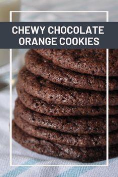 Chocolate and orange paired in a super chewy cookie shell. Crazy Cookies, Yummy Cookies, Fudge Cookies, Baking Recipes, Snack Recipes, Dessert Recipes, Desserts, Crinkle Cookies, Chocolate Orange Cookie Recipe