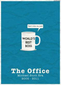 The Office (2005–2013) ~ Minimal TV Series Poster by Alison Zhu #amusementphile