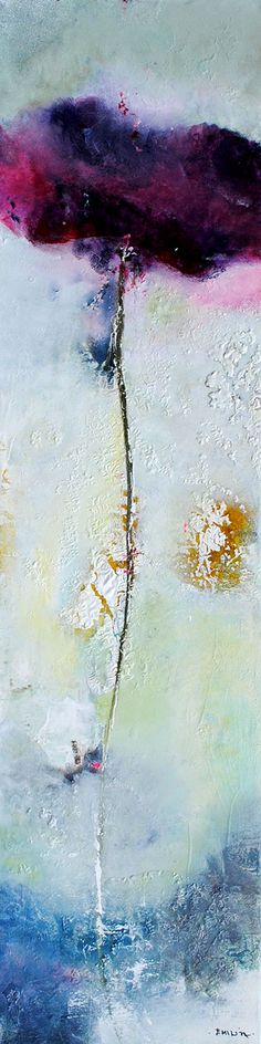 """Untitled"" 48x12"" Mixed Media on Canvas by Emilija Pasagic. From Crescent Hill Gallery in Mississauga, ON"