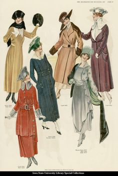 Early 1900s catalog... another great fashion print from Old Rag blog.