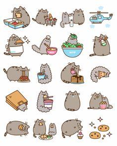 #每日一幅,简笔画#【GIF】 萌猫Pusheen又来啦作者:Claire