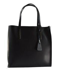 This Black Structured Leather Tote is perfect! #zulilyfinds