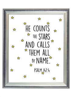 Outer space nursery - digital psalm 1474 star outer space nursery print modern kid wall art gender neutral nursery star print bible verse art any size Nursery Themes, Nursery Prints, Room Themes, Nursery Ideas, Outer Space Bedroom, Star Nursery, Star Themed Nursery, Nursery Art, Art Wall Kids