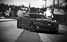 awesome chevrolet camaro chevrolet cars front view black white