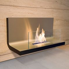 Wall Flame Stainless  by Michael Rösing for Radius Design  Runs on ethanol
