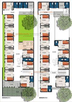 desain minimalis – Page 2 – sembilanstudio 3 Storey House Design, Small House Design, Guest House Plans, Resort Plan, Hotel Floor Plan, Hospital Architecture, Architectural Floor Plans, House Construction Plan, Beautiful House Plans